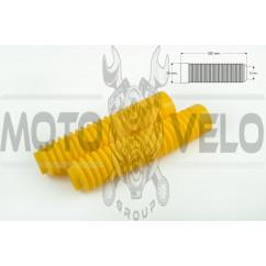 Гофры передней вилки (пара) универсальные L-250mm, d-30mm, D-50mm (желтые) MZK