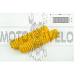 Гофры передней вилки (пара) универсальные L-190mm, d-30mm, D-45mm (желтые) MZK
