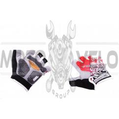 Перчатки без пальцев (mod:1, size:L, гелевые подушки, красные) HAND CREW