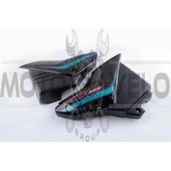 Пластик Yamaha YBR125 боковая пара на бардачок (черный) KOMATCU