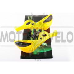 Защита рук на руль (mod:1, MONSTER ENERGY, желтые) XJB