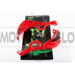 Защита рук на руль (mod:1, MONSTER ENERGY, красные) XJB