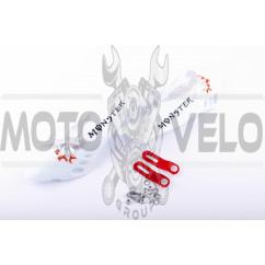 Защита рук на руль (mod:3, MONSTER ENERGY, белые) XJB