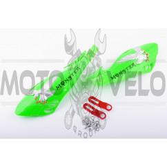 Защита рук на руль (mod:3, MONSTER ENERGY, зеленые) XJB