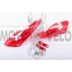 Защита рук на руль (mod:3, MONSTER ENERGY, красные) XJB