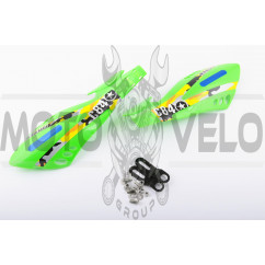 Защита рук на руль (mod:4, GLOVES, зеленые) XJB
