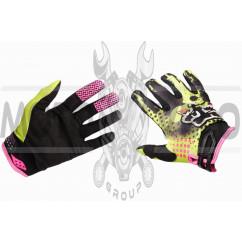 Перчатки FOX (mod:3, size:L, зелено-черные)