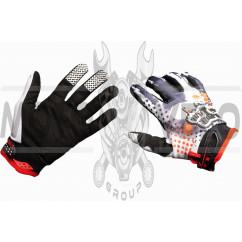 Перчатки FOX (mod:3, size:L, черно-красные)