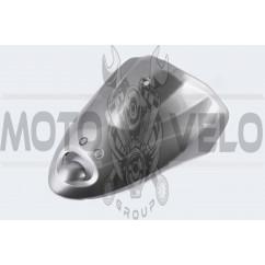 Пластик Zongshen WIND передний (клюв) (серый) KOMATCU