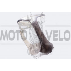 Пластик Zongshen WIND передний (подклювник) (серый) KOMATCU