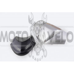 Пластик Zongshen RACE 2/4 передний (голова) (серый) KOMATCU