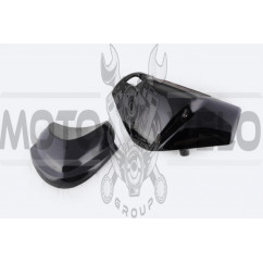 Пластик Zongshen RACE 2/4 передний (голова) (черный) KOMATCU