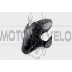 Пластик Zongshen RACE 2/4 передний (крыло) (черный) KOMATCU