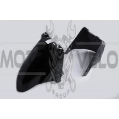 Пластик Zongshen WIND переднее крыло (черный) KOMATCU