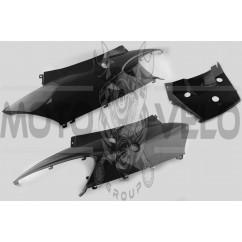 Пластик Zongshen F1, F50 задняя боковая пара (черный) KOMATCU