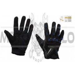 Перчатки SCOYCO (mod:MC-10, size:M, синие, текстиль)