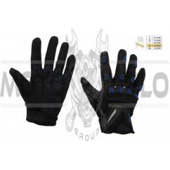 Перчатки SCOYCO (mod:MC-10, size:XL, синие, текстиль)