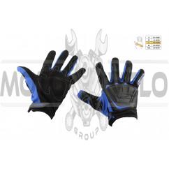 Перчатки SCOYCO (mod:MC-08, size:L, синие, текстиль)