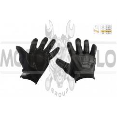 Перчатки SCOYCO (mod:MC-08, size:XL, черные, текстиль)