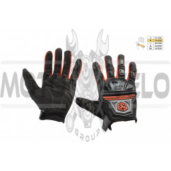 Перчатки SCOYCO (mod:MC-24, size:M, красные, текстиль)