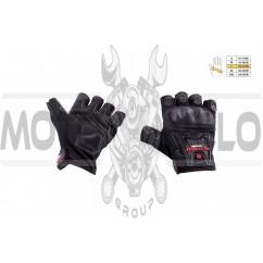 """Перчатки без пальцев (mod:MC-12D, size:L, черные, текстиль) """"SCOYCO"""""""