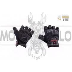 """Перчатки без пальцев (mod:MC-12D, size:M, черные, текстиль) """"SCOYCO"""""""