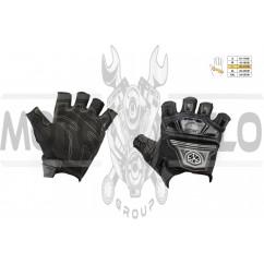Перчатки без пальцев (mod:MC-24D, size:L, черные, текстиль) SCOYCO