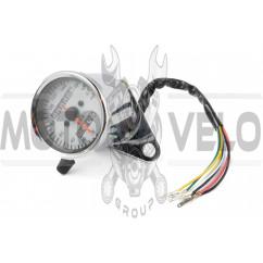 Спидометр выносной универсальный 160км/ч (хром, диодные индикаторы) KOMATCU
