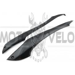 Пластик Yamaha JOG SA16 нижний (лыжи) (черный) KOMATCU