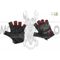Перчатки без пальцев (mod:MC-29D,size:XL, красные) SCOYCO