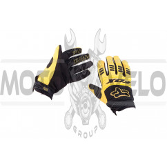 Перчатки FOX DIRTPAW (mod:029, size:XL, черно-желтые)