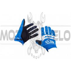 Перчатки FOX DIRTPAW (mod:025, size:M, сине-белые)