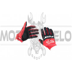 Перчатки FOX DIRTPAW (mod:029, size:L, красно-черные)