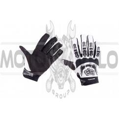 """Перчатки """"FOX"""" DIRTPAW (mod:027, size:L, белые)"""