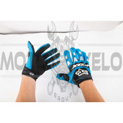Перчатки FOX DIRTPAW (mod:028, size:M, сине-черные)