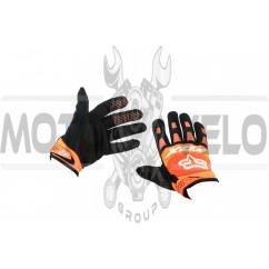 Перчатки FOX DIRTPAW (mod:028, size:M, оранжево-черные)
