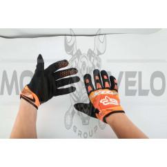 Перчатки FOX DIRTPAW (mod:028, size:XL, оранжево-черные)