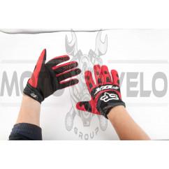 Перчатки FOX DIRTPAW (mod:028, size:L, красно-черные)