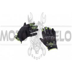 "Перчатки ""FOX"" BOMBER (mod:055, size:L, черно-зеленые)"