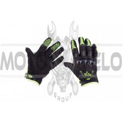"""Перчатки """"FOX"""" BOMBER (mod:055, size:M, черно-зеленые)"""