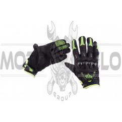 """Перчатки """"FOX"""" BOMBER (mod:055, size:XL, черно-зеленые)"""