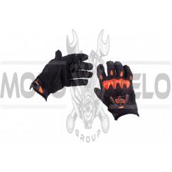 Перчатки FOX BOMBER (mod:055, size:L, черно-оранживые)