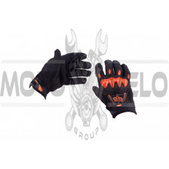 Перчатки FOX BOMBER (mod:055, size:M, черно-оранжевые)