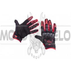 """Перчатки """"FOX"""" BOMBER (mod:055, size:M, черно-красные)"""