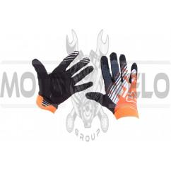 "Перчатки ""FOX"" AIRLINE KTM (mod:028, size:L, черно-оранживые)"