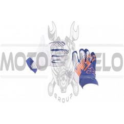 Перчатки FOX AIRLINE KTM (mod:028, size:XL, бело-синие)