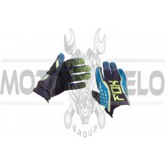 Перчатки DIRTPAW (mod:035, size:XL, черно-синие) FOX