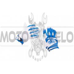 Перчатки DIRTPAW (mod:033, size:M, синя-белые) FOX