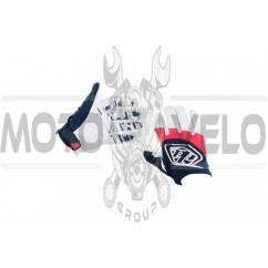 Перчатки TLD (mod:030, size:L, черно-белые)