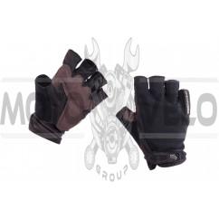 Перчатки без пальцев (size:XL, черные) FOX